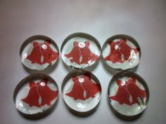 Glass Marble Magnets  Christmas / 67 by LisaChristines on Etsy, $5.00