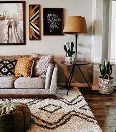 Neutral and cozy living area