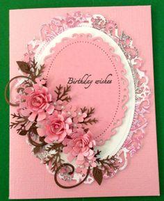 Birthday card with spellbinder dies