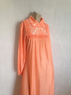 Victoria/'s Secret Sheer Crepe Georgette Lavender Nightgown with Ruffle and Lace Trim Size Medium