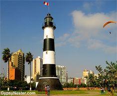 Lighthouse, Lima Peru! See more: http://www.gypsynester.com/lima-peru.htm