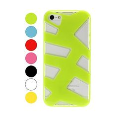 Hit Colore motivo Fish Bone Hollow dura di plastica e custodia morbida per iPhone 5/5S – EUR € 4.59