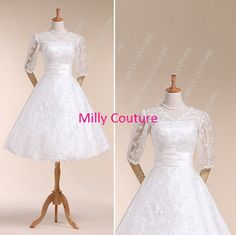 short wedding dresses tea length wedding dresses by MillyCouture, $259.00