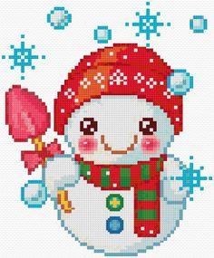 free snowman chart from cross stitch pattern .net