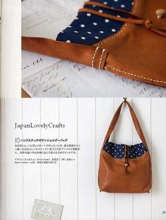 CLOTH AND LEATHER BAG - JAPANESE SEWING PATTERNS BOOK FOR BAGS - HEART WARMING LIFE SERIES 14 by JapanLovelyCrafts, via Flickr