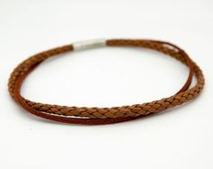 Brown leather choker, tan choker necklace - the Django Chokers, Choker Necklaces, Bracelets, Brown Leather, Jewels, Trending Outfits, Unique Jewelry, Handmade Gifts, Etsy