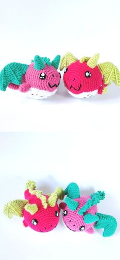 Fantastic Fun Free Crochet Dragon Patterns. These cuties will be such an adorable gift for evey dragon fan and kiddos! The pattern includes a tutorial. You will need a 3 mm hook and 12 mm safety eyes to complete this project.  #freecrochetpattern #shawl #wrap Crochet Dragon Pattern, Crochet Patterns, Cute Gifts, Free Crochet, Shawl, Safety, The Incredibles, Fan, Eyes