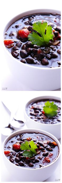 5-Ingredient Black Bean Soup -- ready to go in 20 minutes, and full of great flavor! | gimmesomeoven.com