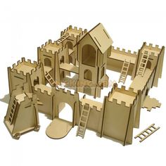 Kids Medieval Castle with Siege Weapon CNC Laser