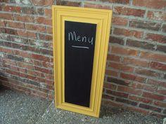 Upcycled cabinet door chalkboard