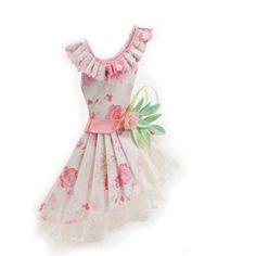 paper dress art | Sweet Lolita Pink Floral Haute Paper Fashion by kellbellestudio, $525 ...