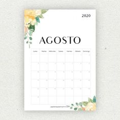 Calendario para imprimir 2020 - Papelería para Imprimir Bullet Journal School, Bullet Journal Inspo, Diy Agenda, Planning Calendar, Colors For Dark Skin, Bullet Journal Printables, Diy Gifts For Him, Planner Supplies, Planner Ideas