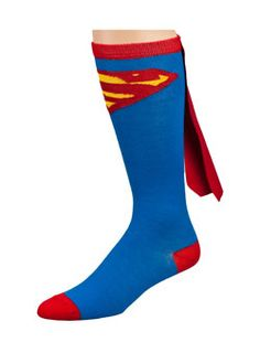 Superman Caped Knee Socks  Now you can own the same Superman Caped socks worn by Robert Griffin III. Made from 80% acrylic, 17% polyester and 3% spandex. Cheer on the Redskins in Superman-style with these awesome Superman caped socks!