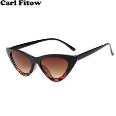 8621679a6cea 2018 New Cute Sexy Retro Cat Eye Sunglasses Women Black White Triangle  Vintage Cheap Sun Glasses