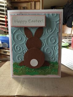 Ginger's Vintage Room: Punch happy Easter bunny card, punches, embossing
