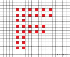 Swirls and Sprinkles: Free crochet letter F block/square pattern