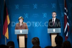 Jens Stoltenberg discusses energy and the economy with Angela Merkel