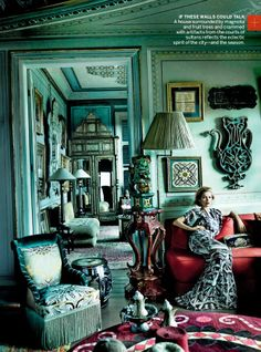 Fashion photographer!!! Mario Testino Such a great eye and such a great room!