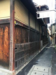 路地と竹の柵@京都