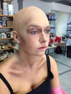Bald Caps Skull Face Paint, Bald Cap, Bald Girl, Bald Heads, Elements Of Design, Aesthetic Makeup, Creative Makeup, Hair Inspo, Halloween Makeup