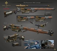 (The Order 1886) Pneumatic Rifle by Anton Lavrushkin https://twitter.com/Steampunk_T/status/440587841194582016 #Concept #Steampunk  Check ou...