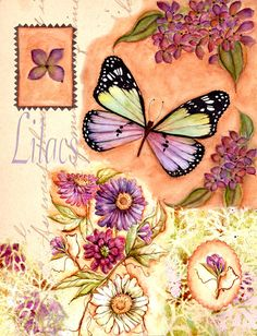 Butterfly Collage ~ Rosemary Hozempa