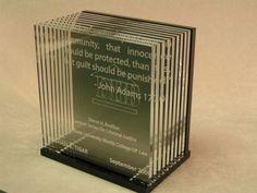 Laser Cut and Engraved Acrylic Award