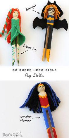 DC Super Hero girls peg doll characters