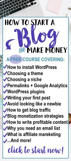 How to start a blog today and make money from home - a FREE step by step guide for beginners, everything from installing wordpress to affiliate marketing! This is the BEST job for stay at home moms! #blogging #bloggingtips #workfromhome #makemoneyonline #makemoney