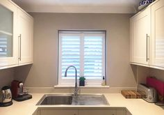 Our bespoke shutters can be fitted to even the more modest windows. #londonshutters #plantationshutters #kitchenshutters Kitchen Shutters, Kitchen Cabinets, Windows, Bespoke, Home Decor, Taylormade, Kitchen Blinds, Decoration Home, Room Decor