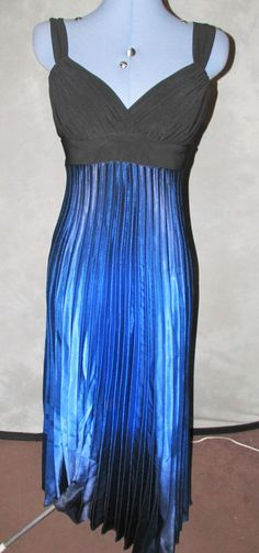 Ladies Size 10 Cruise Style long length Dress Blue & Black No Pattern Pleated Blue Dresses, Formal Dresses, Cgi, Tie Dye Skirt, Cruise, Size 10, Lady, Skirts, Pattern