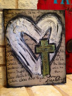 Textured Amazing Grace hand-painted art by DesignsbyDarlaT on Etsy