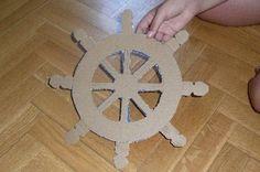Cardboard ship wheel