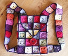 sac à dos en crochet -granny vitrail