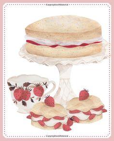 Illustration from Tea & Cake: Amazon.co.uk: Emma Block: Books