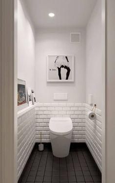 Scandinavian bathroom design ideas with white shades that you . - Scandinavian bathroom design ideas with white shades that you - Scandinavian Bathroom Design Ideas, Bathroom Design Small, Small Toilet Design, Scandinavian Style, Bath Design, Tile Design, Toilet Tiles Design, Scandinavian Toilets, Vanity Design