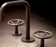 Industrial Chic Brass Faucet by Watermark Designs