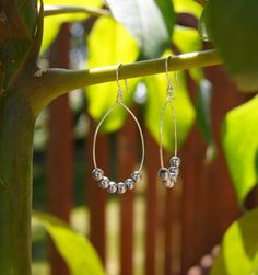Silver Ball Hoop Earrings by olivialeejewelry on Etsy, $15.00