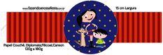Porta Guardanapos Molde Show da Luna Azul e Vermelho