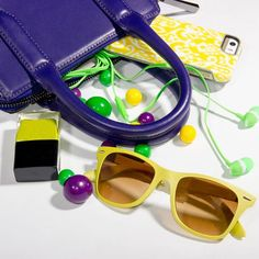 Mardi Gras inspired. We're wild about these accessories!