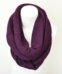 Eggplant Infinity Scarf   Love this color