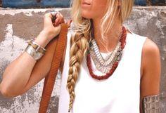 chunky jewelry/ braid