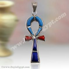 Egyptian silver pendent