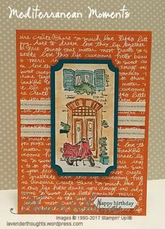 Watercoloring one of the new images from the Stampin' Up! Mediterranean Moments set.