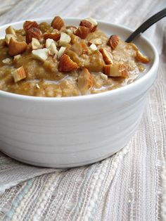 The Oatmeal Artist: Pumpkin Pie Oatmeal. #TheTexasFoodNetwork #ChefPogue share your recipes with us facebook.com/TheTexasFoodNetwork