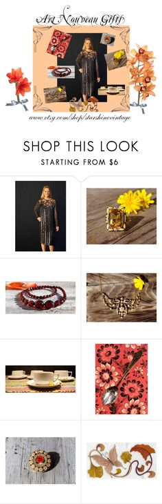 """Art Nouveau Collection"" by starshinevintage ❤ liked on Polyvore featuring vintage"