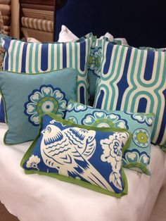Chrysalis Fine Fabrics 1410 Market St. Tallahassee, FL 850-225-2924 Www.houseofchrysalis.com #wedocustom #designsolutions #shoplocal #Tallahassee Bed Pillows, Pillow Cases, Fabrics, Concept, Inspiration, Home, Pillows, Tejidos, Biblical Inspiration