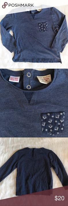 Zara baby girl shirt with printed pocket Excellent condition, 18/24 Month girls! Zara Shirts & Tops