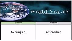 to bring up - ansprechen German Vocabulary Builder Word Of The Day #194 ! Full audio practice at World Vocab™! https://video.buffer.com/v/581944502ee4c1d978952506