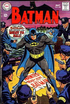 Comic Book Critic - Google+ - Batman #201 (May '68) cover by Irv Novick.